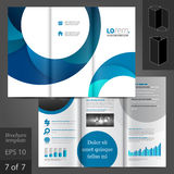 Leaflet Template Design Royalty Free Stock Images