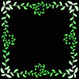 Leafs Border Square Frame. Olive leafs square frame border with curly leafs around the border Stock Photos