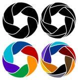Leafs logo set Royalty Free Stock Photo