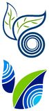 Leafs logo set. Isolated line art leafs logo set Stock Image