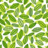 leafs mönsan seamless Arkivfoto