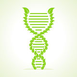 Leafs make a DNA strand Royalty Free Stock Photo