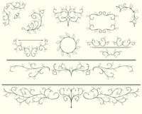 Leafs ornaments. Frames and ornaments of leaves Royalty Free Stock Image