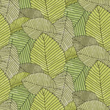 Leafs pattern. Seamless pattern from leaves. Vector Illustration Royalty Free Stock Image