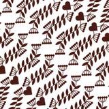 Leafs plant decorative pattern Stock Photo
