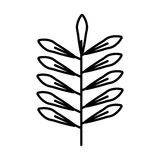 Leafs plant isolated icon Royalty Free Stock Images