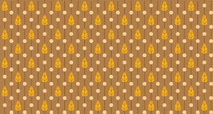 Leafs and polka dots seamless pattern Stock Photos