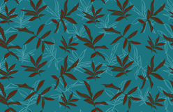 Leafs seamless pattern Royalty Free Stock Image
