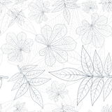 Leafs Silhouette Seamless Pattern Royalty Free Stock Images