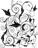 leafswirls royaltyfri illustrationer