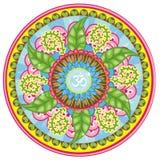 Leafy Aum desidn Stock Image