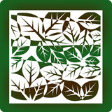 Leafy background. Environmentally themed background of leaves vector illustration