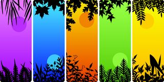 Leafy bookmarks Stock Photo