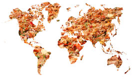 Leafy map of earth Royalty Free Stock Photo