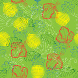 Leafy silhouettes seamless pattern Royalty Free Stock Image