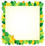 Leafy theme frame 1 Stock Photo