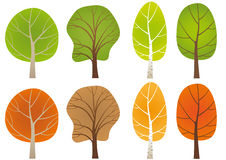 Leafy trees Stock Image