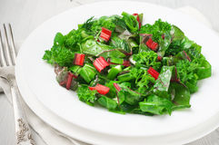 Free Leafy Vegetables Salad In Plate Stock Photo - 67451350