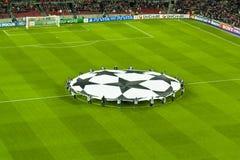 Leage barça-Bayer Leverkusen van kampioenen (7-1) Royalty-vrije Stock Foto