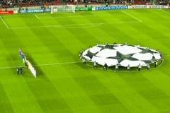 Leage barça-Bayer Leverkusen van kampioenen (7-1) Stock Foto