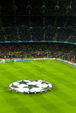 Leage barça-Bayer Leverkusen van kampioenen (7-1) Royalty-vrije Stock Fotografie