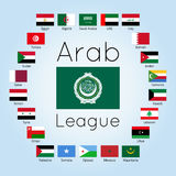 League of Arab States, Arab countries flags, vector illustration Royalty Free Stock Images