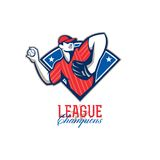 League Champions Baseball Retro Royalty Free Stock Images