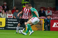 League of Ireland Premier Division match between Cork City FC vs Derry City FC. June 28th, 2019, Cork, Ireland - League of Ireland Premier Division match between stock photography