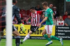 League of Ireland Premier Division match between Cork City FC vs Derry City FC. June 28th, 2019, Cork, Ireland - League of Ireland Premier Division match between stock image