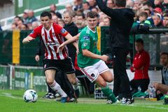 League of Ireland Premier Division match between Cork City FC vs Derry City FC. June 28th, 2019, Cork, Ireland - League of Ireland Premier Division match between royalty free stock images