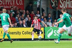 League of Ireland Premier Division match between Cork City FC vs Derry City FC. June 28th, 2019, Cork, Ireland - League of Ireland Premier Division match between royalty free stock photos
