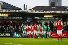 League of Ireland Premier Division match between Cork City FC vs St Patrick`s Athletic FC. April 12th, 2019, Cork, Ireland - League of Ireland Premier Division stock images