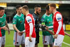 League of Ireland Premier Division match between Cork City FC vs St Patrick`s Athletic FC. April 12th, 2019, Cork, Ireland - League of Ireland Premier Division stock image