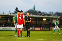 League of Ireland Premier Division match between Cork City FC vs St Patrick`s Athletic FC. April 12th, 2019, Cork, Ireland - League of Ireland Premier Division stock photos