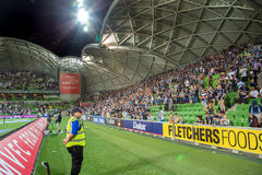 A-League. MELBOURNE, AUSTRALIA – DECEMBER 28: Hyundai A-League, Round 12. Melbourne Victory vs Central Coast Mariners. Photo: Dave Hewison royalty free stock images