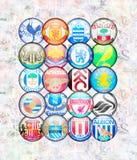 League primera inglesa 2012/13 ilustración del vector