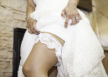 League and wedding dress Stock Photo