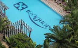 Leaguer Resort Sanya Bay. Hotel poolside Royalty Free Stock Photo