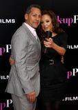 Leah Remini en Angelo Pagan royalty-vrije stock foto's