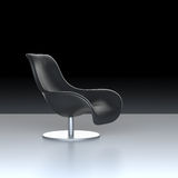 Leahter chair. Single leahter chair on black background Stock Images