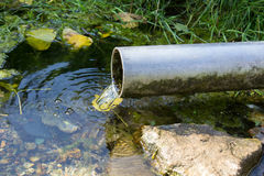 Leakage of water from pipe Royalty Free Stock Image