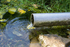 Leakage of water from pipe Stock Photo