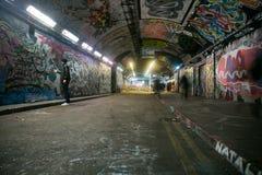 Leake Street tunnel, london stock images