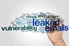 Leaked emails word cloud Royalty Free Stock Photos