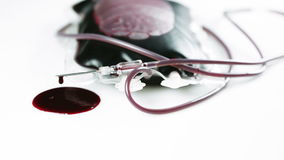 A leaking blood bag stock footage
