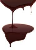 Leaking hot chocolate on white background. Vector illustration Stock Image