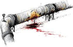 Leaking Pipeline Stock Photo