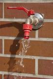 A leaky garden faucet. Royalty Free Stock Photos