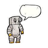 Leaky old robot cartoon Royalty Free Stock Photography
