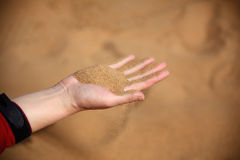 Leaky sand Royalty Free Stock Photo